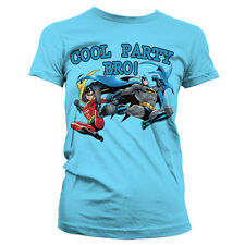 Officially Licensed Batman- Cool Party Bro! Women T-Shirt S-XXL Sizes