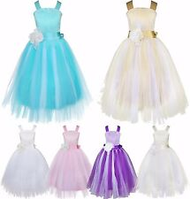 Chiffon Girl Flower Party Formal Wedding Bridesmaid Pageant Prom Kids Gown Dress