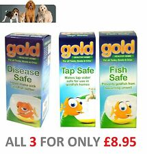 Interpet Gold Treatments Tap Fish Disease Safe Healthy Aquarium Fish Tank