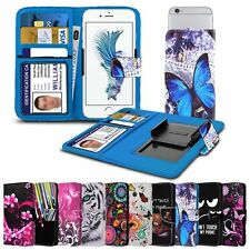 """For Bush D4 (5.5"""") High Quality Design Pattern Printed Clamp Wallet Case Cover"""