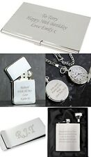 Personalised Silver Gift Ideas For Him Dad Birthday Anniversary Wedding Gifts