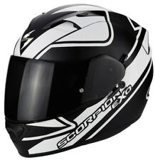 SCORPION EXO 1200 air freeway Casque noir blanc Parasoleil fibre de verre