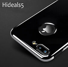 Jet Black Glossy Ultra Luxury Chrome Cover Case For Apple iPhone 6 6s 7 & 7 Plus