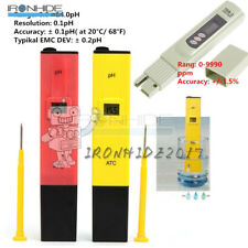 Digital PH value Meter + TDS Tester Water Quality Purity Tester Pen Monitor