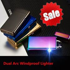 USB Rechargeable Flameless Electric ARC Pulse Cigarette Lighter Windproof XP