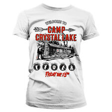 Officially Licensed Friday The 13th- Camp Crystal Lake Women's T-Shirt (S-XXL)
