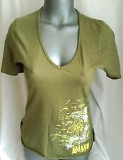 LIZZY SURF LADIES GREEN SUMMER T TEE SHIRT SHORT SLEEVE TOP BNWT MED/LARGE