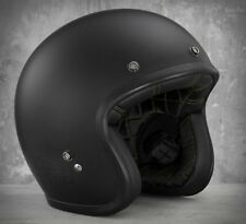 HARLEY-DAVIDSON HALF FACE HELMET MATT BLACK, BELL CUSTOM 500, EU/UK ROAD LEGAL