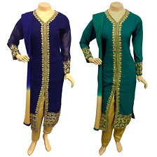 Indian Pakistani Georgette Trouser Suit Dress Stitched Shalwar Kameez Salwar