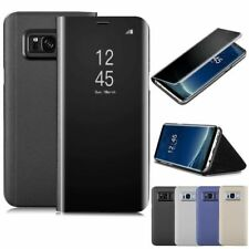 Custodia View Cover case Specchio PER Samsung Galaxy S8 PLUS S7 EDGE FLIP LIBRO