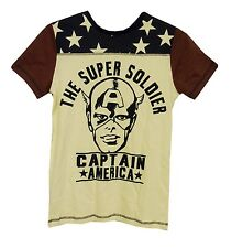 NEW! Boys Marvels Captain America The Super Soldier T-Shirt Age 10 11 Years