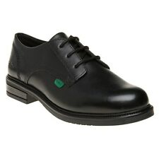 New Girls Kickers Black Lach Lace Leather Shoes Up