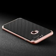 ROCCIA ibrida CARBON FIBRA anti-urto TPU Custodia Silicone Cover - iPhone 5,6,