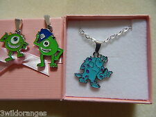 Sully Mike Collana Argento Placcato o Borsa Monsters University