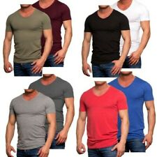7035 JACK & JONES lot de 2 V Neck T-shirt coupe slim homme blanc noir gris bleu