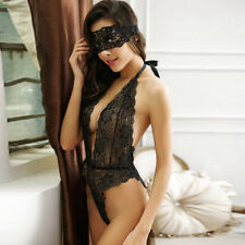 Sexy Lingerie Bodysuit Women Black Ladies Nightwear Underwear Babydoll Teddy Hot