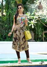 Ezsolve Selfie Style - Trendy Western Cotton with Printed Neck Work Kurti Party