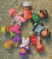 NEW Stork Babies Matchbox Doll With Bed Mini Beanie Baby Doll Retro Choice of 8