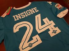 Maglia SSc NAPOLI Kappa Kombat Extra Home Insigne 24 + Patch Serie A Tim maillot