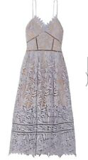 SELF-PORTRAIT Laelia Guipure Lace Midi Dress Size UK14 - US10.