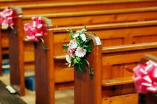 WEDDING, PARTY BOWS AND RIBBON CHURCH PEW, FUNTION ROOM, CAR DECORATION