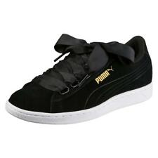 8242dc018aa0d2 Puma Vikky Ribbon Leather Sneaker Women s Shoes 364262 02 Black