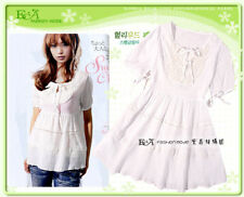 White voile short sleeve top/blouse, 100% new, stock in hand, ship worldwide (02005)