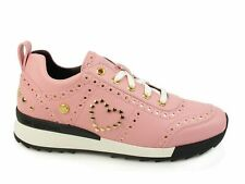 LOVE MOSCHINO Power25 sneakers borchie PELLE ROSA JA15042G14IA260A inverno 2018