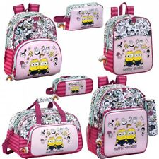 Minions Despicable Me 3 Girls Rucksack Backpack School Pink Lunch Bag PREMIUM