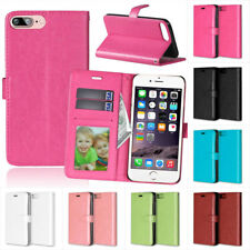 For Apple iPhone 4 5 6 7/ 7 plus Practical Flip PU Leather Wallet Case Cover EM