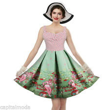 1950s 60s Vintage Swing Pin up Fiesta Cóctel Rockabilly Vestido