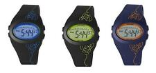 KAHUNA UNISEX LCD DIAL DIGITAL DISPLAY & BLACK SILICONE STRAP WATCH