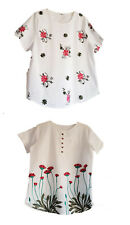 Aimerfeel womens lightweight summer embroidered flower and leave pattern size XL