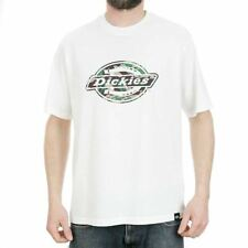 Dickies Horse Shoe One Colour T-Shirt White Tee BNWT New Free Delivery