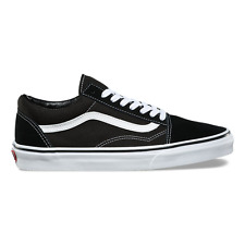 Vans Authentic Old Skool Suede Black White Suede Canvas Classic Era Mens Womens