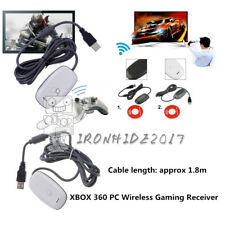 PC Wireless USB 2.0 Gaming Receiver-Controller Adapter for Xbox 360 + Adapter