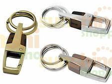 Double Ring Metal Chrome Hook Key Chain Ring for Bike & Car House GIFT