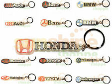BUY 1 GET 1 Famous CAR Brands Silicon Rubber Key Chain Ring for Bike & Car KCCR
