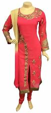 Indian Pakistani Georgette Churidar Suit Dress Salwar Kameez Shalwar, Stitched