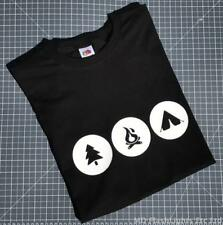 BUSHCRAFT DESIGN CASUAL BLACK CREW NECK T-SHIRT CAMPING BUSHCRAFT CLOTHING