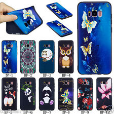 Ultra Slim Cute Embossed Patterned TPU Silicone Rubber Soft Back Case Cover BFD