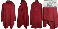 Womens Plain Long Sleeves Lagenlook Back Buttons Detail Tunic Top & Scarf RRP 35