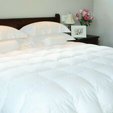 Luxury White Goose Feather & Down Duvet Quilt - All Togs All Size - 100% Cotton