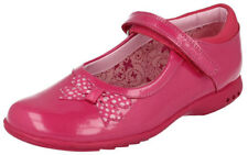 Clarks TRIXI DAZZLE Girls Hot Pink Patent Lights Shoes 9 - 13 EFG Fit NEW BOXED