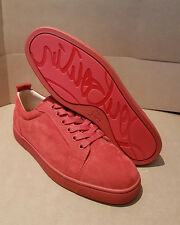 CHRISTIAN LOUBOUTIN Louis Junior Flat Tomette Suede Red 100% Genuine BNWB