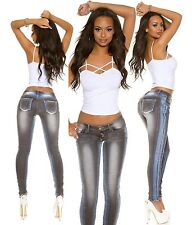 Sexy Women Skinny Jeans Clubbing Ladies Trouser Blue Grey Pant Size 6 8 10 12 14