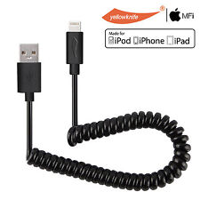 Apple MFI Certified Lightning Cable 8 Pin USB Charging Sync Coiled Cord F iPhone