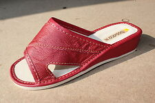 Comfort Genuine Leather Slip on Slippers Shoes for Women UK Size 3 4 5 6 7 8