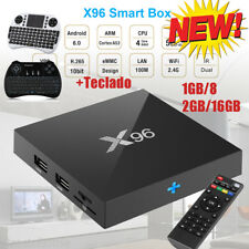 X96 1GB/2GB+8GB/16GB Android 6.0 4K*2K HD Smart TV Box Quad Core+Teclado