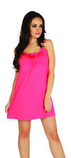 Ladies Girls Nighty Gown Mini Sleeveless Night Dress Soft Stretch Sleepwear
